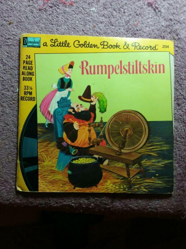 Disneyland 24 Page Little Golden Book & 33 1/3 Record Rumpelstiltskin