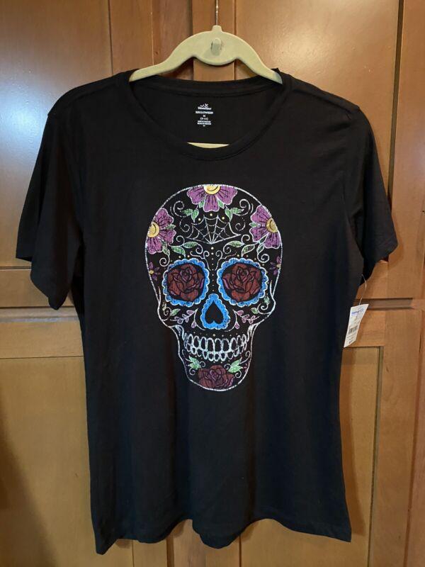 New!Never Worn!Celebrate! Halloween Skull T-Shirt.Size M(8-10).Great 4 Halloween