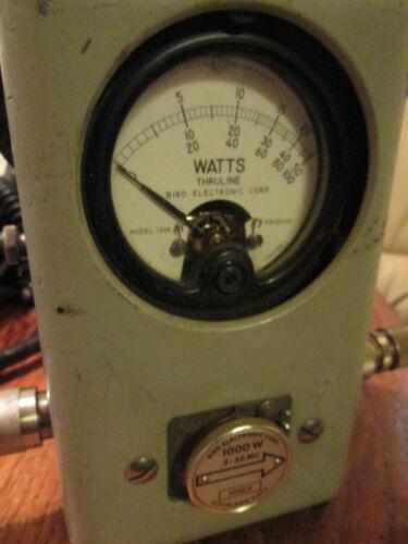 Vintage Bird Thruline 43 & 1000H Element HF Wattmeter