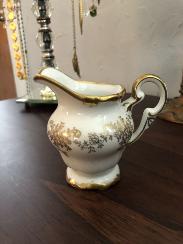 Vintage Weimer Creamer White And Gold Made In GDR 14051 66