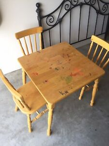 Kids Table & 3 Chairs