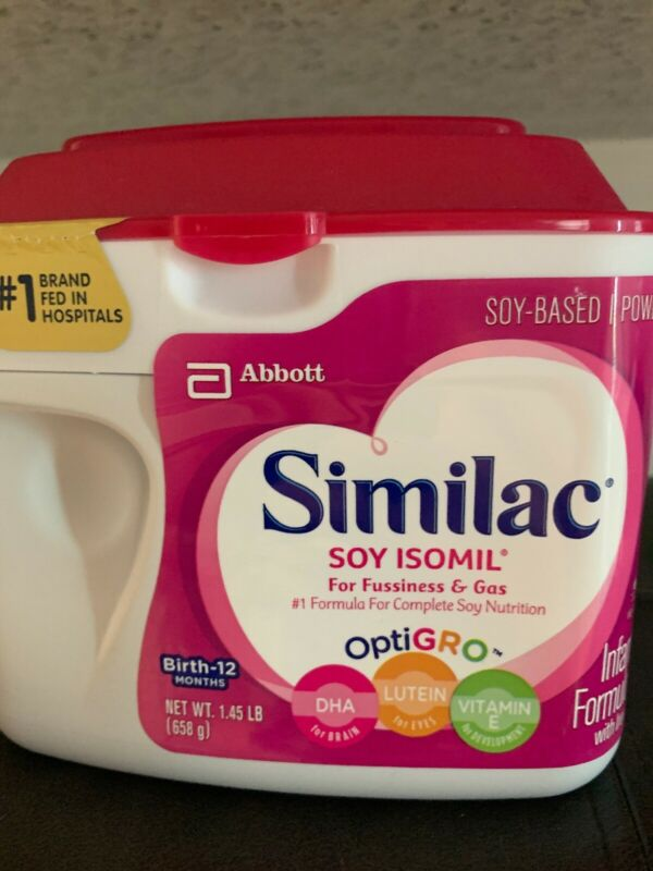 New Similac Soy Isomil For Fussiness Gas Infant Formula With Iron 1.45lb/658g