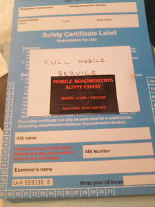 MOBILE SAFETY CERTIFICATES. Kuluin Maroochydore Area Preview