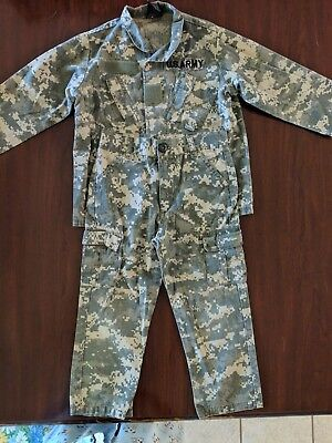 Trooper Military US Army Camo Fatigues Costume Kid's Size XS Camouflage](Us Army Costumes)
