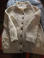 Hand knitted fisherman knit sweater