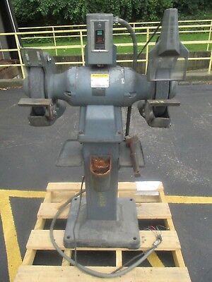 Used 1216w Baldor 12 Industrial Bench Grinder Baldor Ga20 Stand