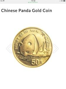 Chinese 1/2 OZ pure gold .9999 Panda Coin