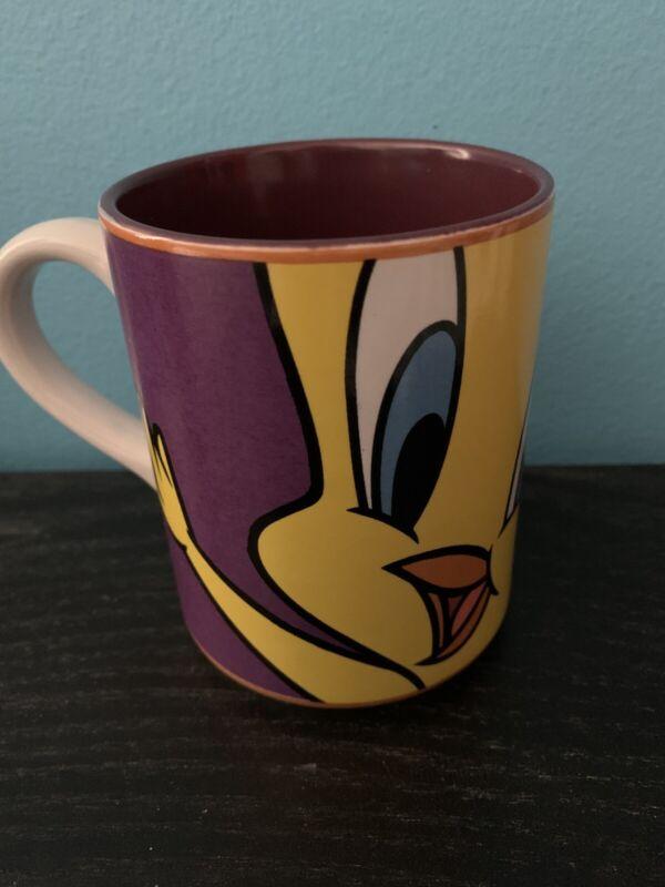 TWEETY BIRD Looney Tunes COFFEE MUG Gibson 1998 Warner Bros.