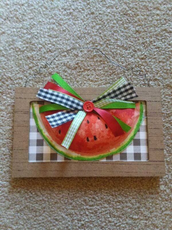 Handmade Watermelon Plaque* Hanger* Tiered Tray Decor