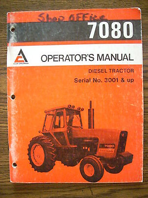 Allis Chalmers 7080 Owners Manual