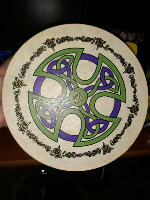 "Irish 8"" Bodhran Celtic Design Hand Drum only"