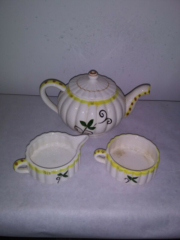 Vintage  1920s 3 Pc countryTea Service Set