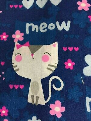- SCRUB TOP SIZES: XS, S, M, L, XL, 2X KITTY CATS MEOW! NWT NURSE MEDICAL VET TECH