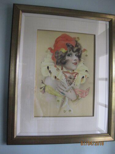 """Alberto Vargas Original Watercolor """"jester"""" 1926"""