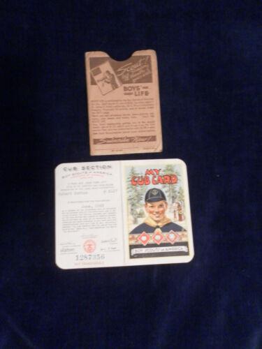 VINTAGE 1943 MY CUB CARD BOY SCOUTS OF AMERICA MEMBERSHIP  CARD BSA