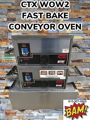 Double Stack Ctx Wow2 - 900 Degrees-18 Conveyor Oven- Split Belt-electric