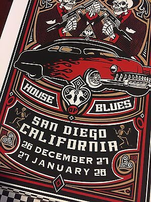 Social Distortion Poster MacPhee Signed Numbered House of Blues 2005 2006 RARE