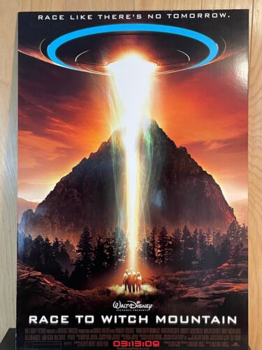 """THICK BOARD MOVIE THEATER POSTER DISNEY RACE TO WITCH MOUNTAIN 40"""" X 27"""""""