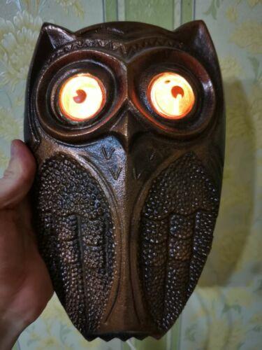 Antique Vintage Night LAMP OWL Eagle-owl Soviet Russian USSR 220V