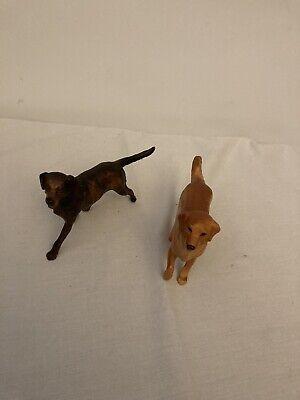 1999 BREYER REEVES Lot of 2 Dogs - BLACK LABRADOR and GOLDEN RETRIEVER