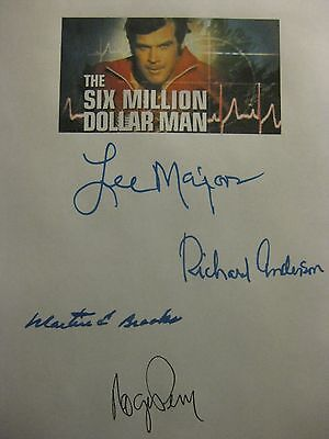 The Six Million Dollar Man Signed TV Script Lee Majors Richard Anderson Perry rp
