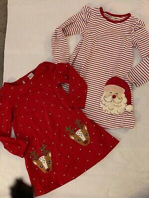 Girls Adventure Wear by Copper Key Christmas Dresses Reindeer Santa Size 5