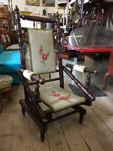 Antique Vintage Rocking Chair Rocker Armchair Dexter Tapestry Queenstown Port Adelaide Area Preview