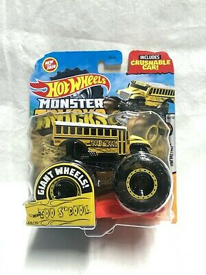 2020 Mattel 1:64 Scale Diecast Hot Wheels Monster Trucks Too S'Cool Bus