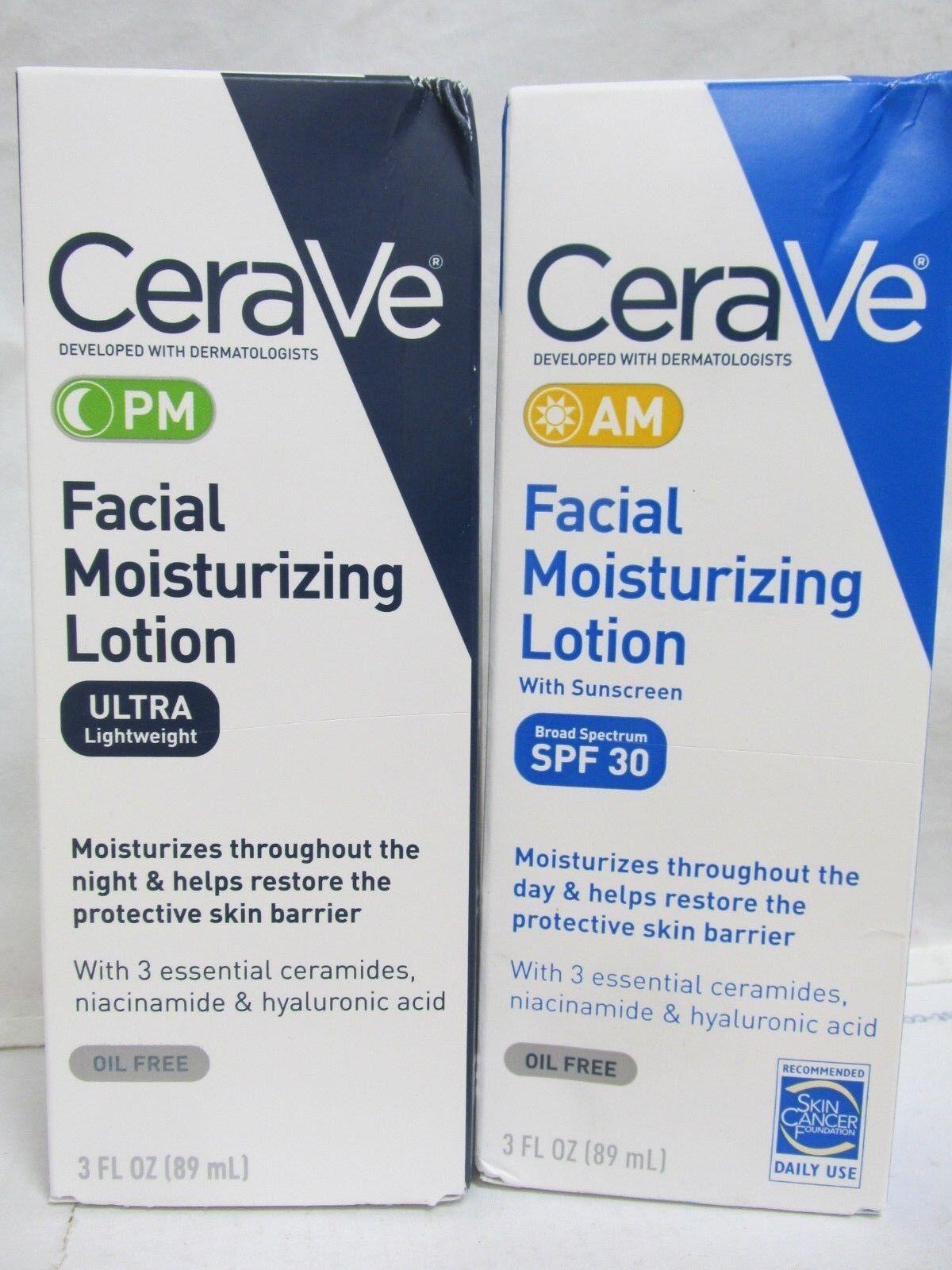 CeraVe PM Moisturizing Night Lotion Face Moisturizer and Cer