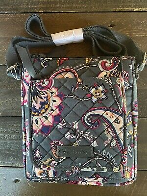 New with Tags, Vera Bradley Iconic RFID Mini Hipster In Felicity Paisley