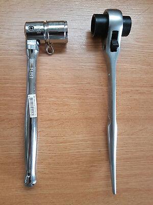 Heavy Duty Scaffolding Tools 2 In 1steel Spanner 716 21mm 10 Ratchet 1921mm