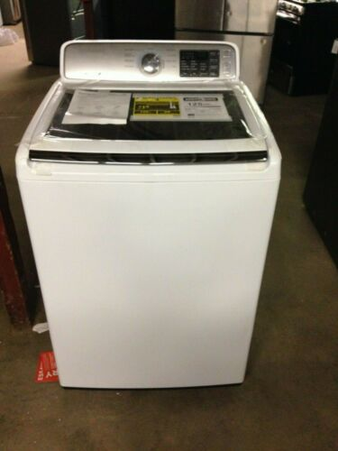 Samsung 4.5 Cu. Ft. 9-Cycle Top-Loading Washer White WA45M7050AW
