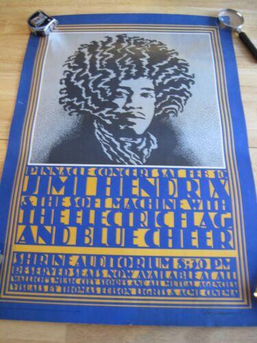 Jimi Hendrix Poster, Shrine Auditorium, LA 1968, 2nd Printing