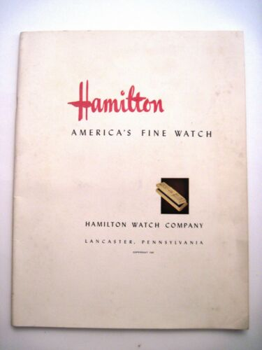 """Stunning 1941 """"Hamilton Watch"""" Catalog w/ Beautiful Colored Pictures  *"""