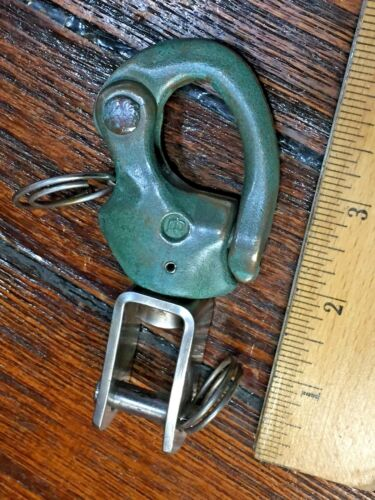 """VINTAGE OLD MERRIMAN #2 SNAP SHACKLE WITH FORK BAIL APROX 4 1/4"""" GREAT PATINA"""