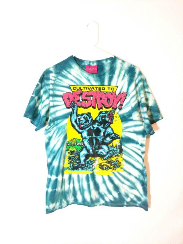 Mishka x Primitive Cultivated To Destroy Tie Dye RARE T Shirt Size Medium EUC