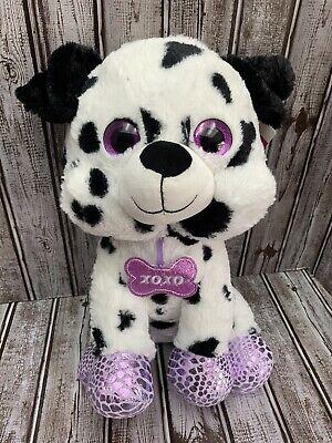 "Dalmatian Plush 16"" Spotted Dog Purple Sparkle Eyes Easter Basket Valentines Day"