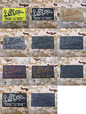 Dont Tread On Me Join Or Die Snake 3D Pvc Patch