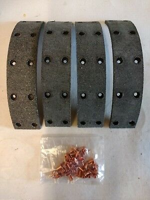 HILLMAN MINX ALL MODELS 1947 1959 NEW FRONTREAR BRAKE LININGS WITH RIVETS RB003