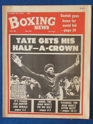Boxing News Magazine   26 10 79   John Tate Cover