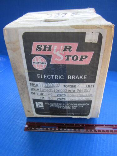 US Motors NIB Shur Stop Electric Brake 1 Ph Model# 105631106003 Kit# 964223 New