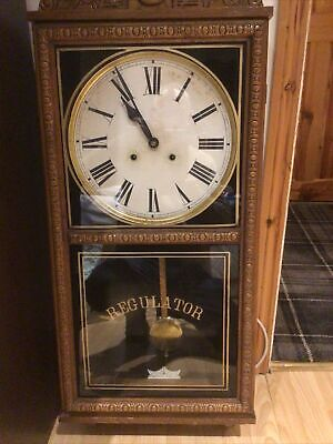 Antique Regulator Wall Clock