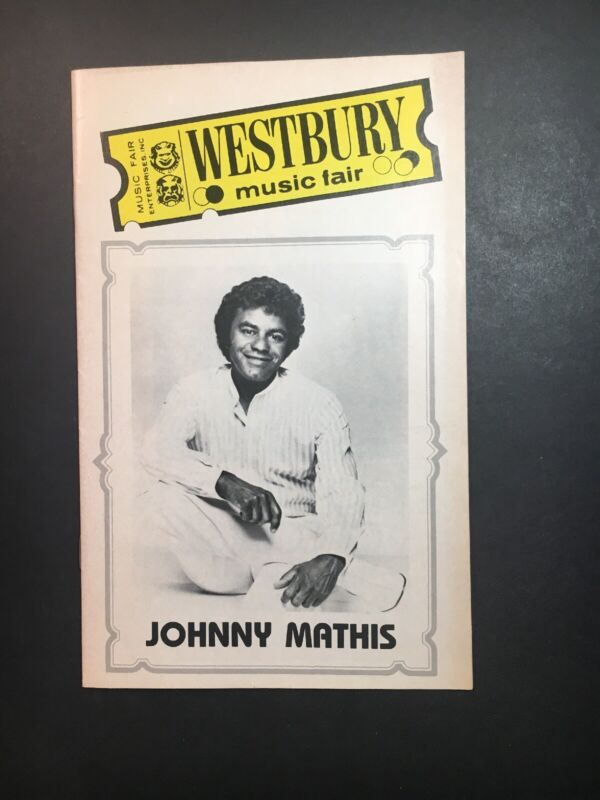 Johnny Mathis 1980 Westbury Music Fair Program Westbury NY