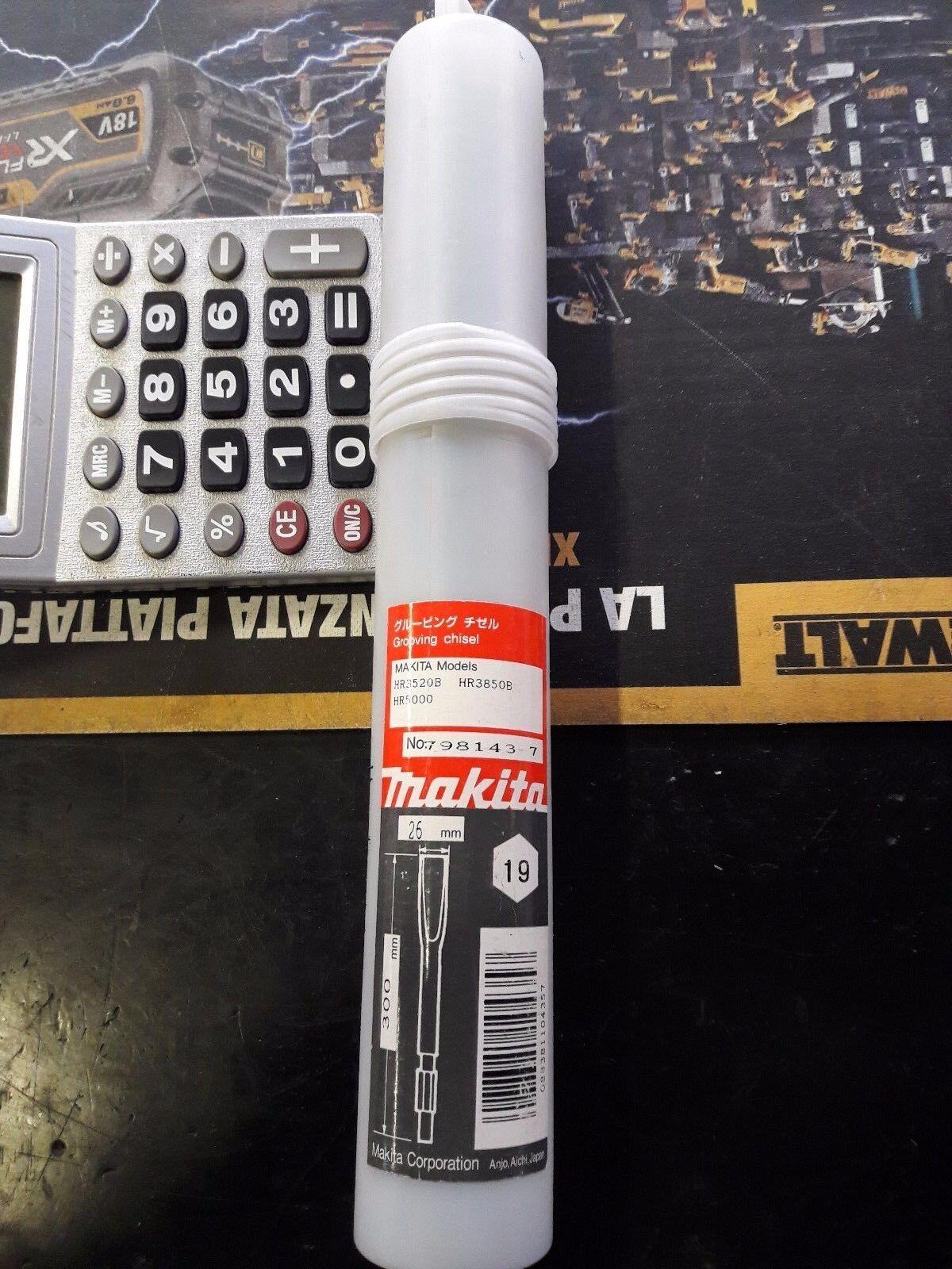 Sgorbia da muro 26mm per martello Makita 798143-7 attacco Makita esagonale 19mm