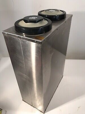 San Jamar Ez-fit Stainless Steel 2 Cup Dispenser Commercial Grade Restaurant 25