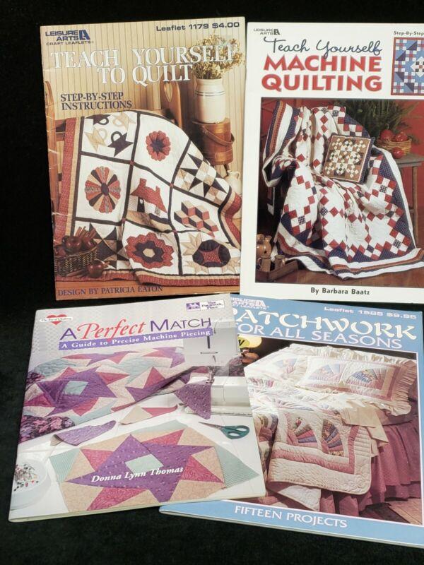 4 Quilt Books Patterns Templates Techniques Joy of Quilting & More Estate Find