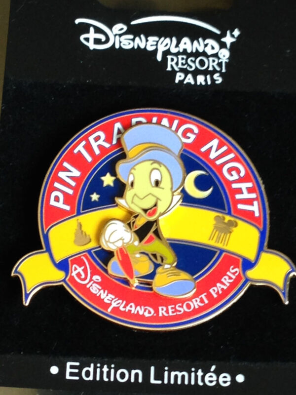 Disney DLRP Paris PTN Pin Trading Night Jiminy Cricket Pin