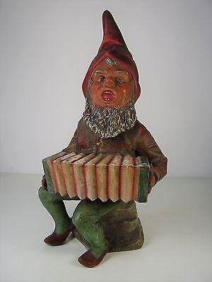 Antiker großer Gartenzwerg Keramik um 1880/90