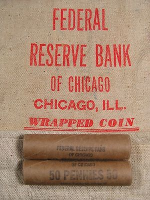 ONE UNSEARCHED - Uncirculated Lincoln Wheat Penny Roll - 1909 1958 P D S (43)