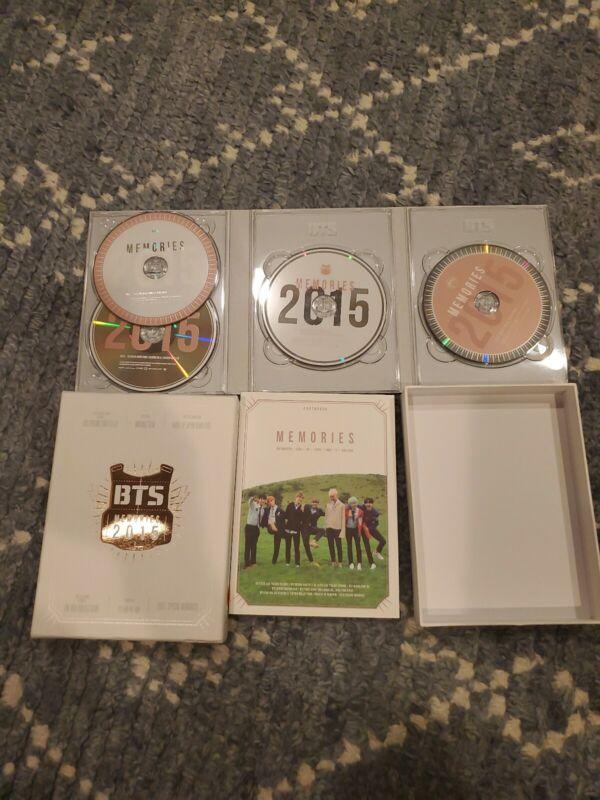 BTS Memories of 2015 DVD 4 Disc Digipak with 108p Photobook opened RARE